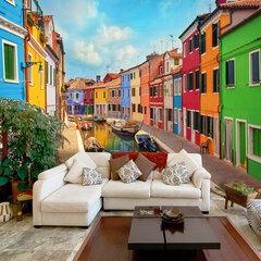 Fototapetas - Colorful Canal in Burano kaina ir informacija | Fototapetai | pigu.lt