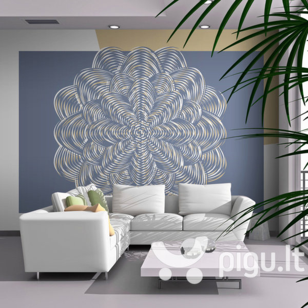 Fototapetas - White ornament