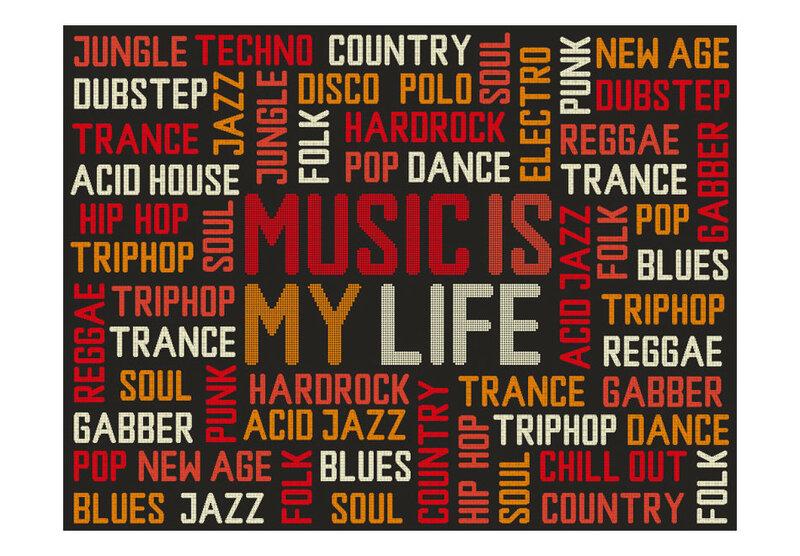 Fototapetas - Music is my life kaina