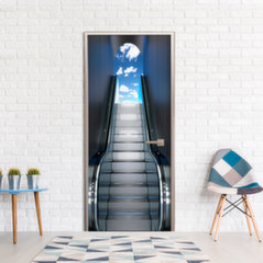 Durų fototapetas - Escalator kaina ir informacija | Fototapetai | pigu.lt
