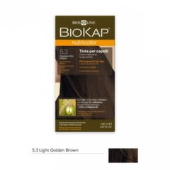 Plaukų dažai Biokap Nutricolor Nr. 5.3 Light Golden Brown Dye 140 ml