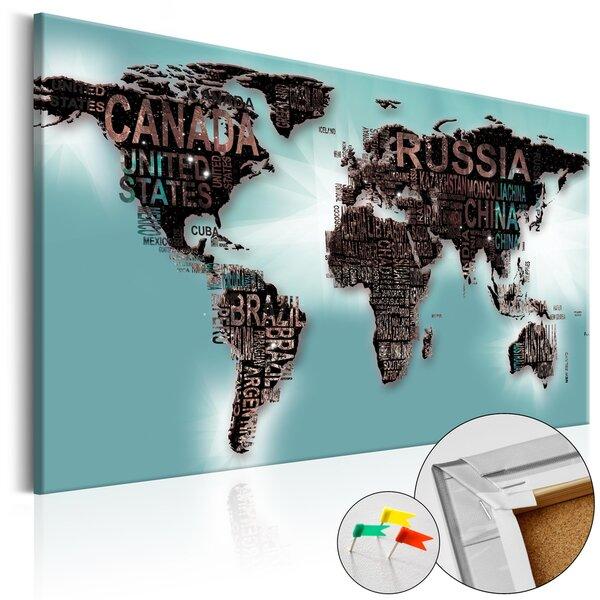 Kamštinis paveikslas - Subtlety of the World [Cork Map] kaina ir informacija | Reprodukcijos, paveikslai | pigu.lt