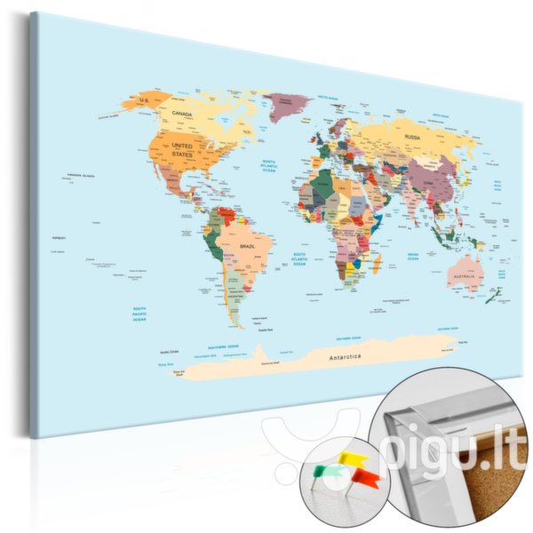 Kamštinis paveikslas - Travel with Me [Cork Map] kaina ir informacija | Reprodukcijos, paveikslai | pigu.lt
