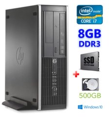 HP 8100 Elite SFF i7-860 8GB 120SSD+500GB DVD WIN10Pro