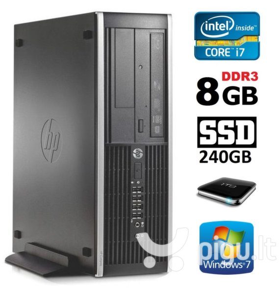 HP 8100 Elite SFF i7-860 8GB 240SSD+1TB DVD WIN7Pro