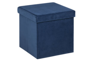 4-ių pufų komplektas Sada, mėlynas