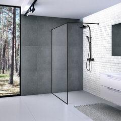 Industrinio stiliaus dušo sienelė Baltijos Brasta Dija Nero Frame