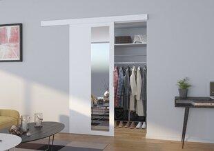 Durys nišai su veidrodžiu Malta 100, baltos