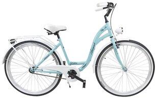 """Moteriškas miesto dviratis Azimut City Lux 28"""" 2019, šviesiai mėlynas/baltas"""
