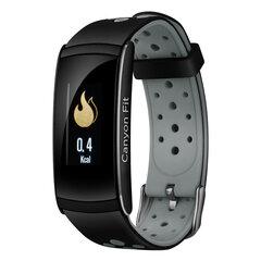Canyon Colourful Basic Smartwatch For Sports Fans CNS-SB41BR, Black/Grey kaina ir informacija | Canyon Colourful Basic Smartwatch For Sports Fans CNS-SB41BR, Black/Grey | pigu.lt