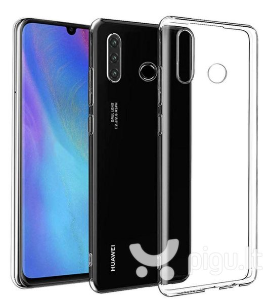 Mocco Ultra Back Case 0.3 mm Silicone Case for Huawei P30 Lite Transparent kaina