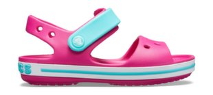 Crocs™ basutės Kids' Crocband Sandal, Candy Pink/Pool