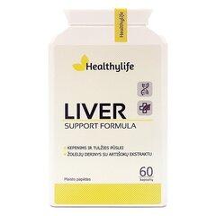 Maisto papildas Liver support formula Healthylife N60 kaina ir informacija | Vitaminai ir maisto papildai gerai savijautai | pigu.lt