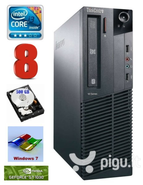 Lenovo ThinkCentre M82 SFF i3-3220 8GB 500GB GT1030 2GB DVD WIN7Pro