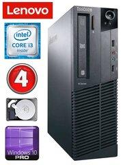 Lenovo ThinkCentre M82 SFF i3-3220 4GB 250GB DVD WIN10Pro kaina ir informacija | Stacionarūs kompiuteriai | pigu.lt