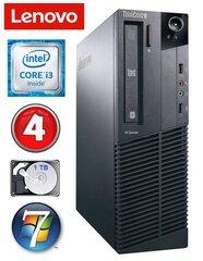 Lenovo ThinkCentre M82 SFF i3-3220 4GB 1TB DVD WIN7Pro kaina ir informacija | Stacionarūs kompiuteriai | pigu.lt