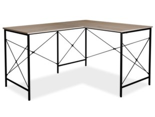 Kampinis rašomasis stalas Signal Meble B-182, ąžuolo/juodos spalvos kaina ir informacija | Kompiuteriniai, rašomieji stalai | pigu.lt