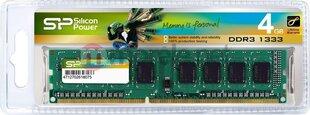 Prekė su pažeista pakuote. Silicon Power DDR3 4GB 1333MHz CL9 1.5V (SP004GBLTU133N02)