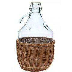 Stiklinis butelis pintinėje Dama, 5 L kaina ir informacija | Konservavimo indai ir  priedai | pigu.lt