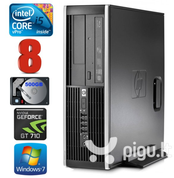 HP 8100 Elite SFF i5-650 8GB 500GB GT710 2GB DVD WIN7Pro