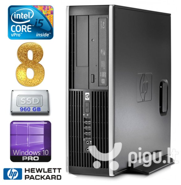 HP 8100 Elite SFF i5-650 8GB 960SSD DVD WIN10Pro