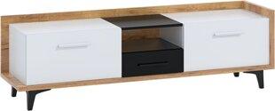 TV staliukas Meblocross Box 09 2D1S, šviesiai rudas/baltas kaina ir informacija | TV staliukai | pigu.lt