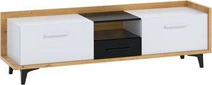 TV staliukas Meblocross Box 09 2D1S, ąžuolo/baltos spalvos kaina ir informacija | TV staliukai | pigu.lt
