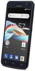 MyPhone Fun 6 Lite, 8 GB, Dual SIM, Juoda