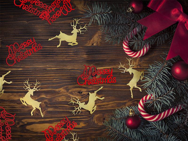 Merry Christmas Image.Konfeti Merry Christmas Raudoni 4 2x2 2cm 1 Pak 3 G