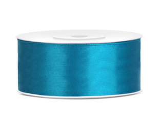 Satino juostelė, turkio spalvos, 25 mm/25 m, 1 vnt/25 m kaina ir informacija | Dovanų pakavimo priemonės | pigu.lt
