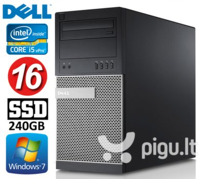 DELL 790 MT i5-2400 16GB 240SSD DVD WIN7Pro kaina ir informacija   Stacionarūs kompiuteriai   pigu.lt