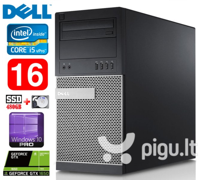 DELL 790 MT i5-2400 16GB 480SSD+1TB GTX1650 4GB DVD WIN10Pro
