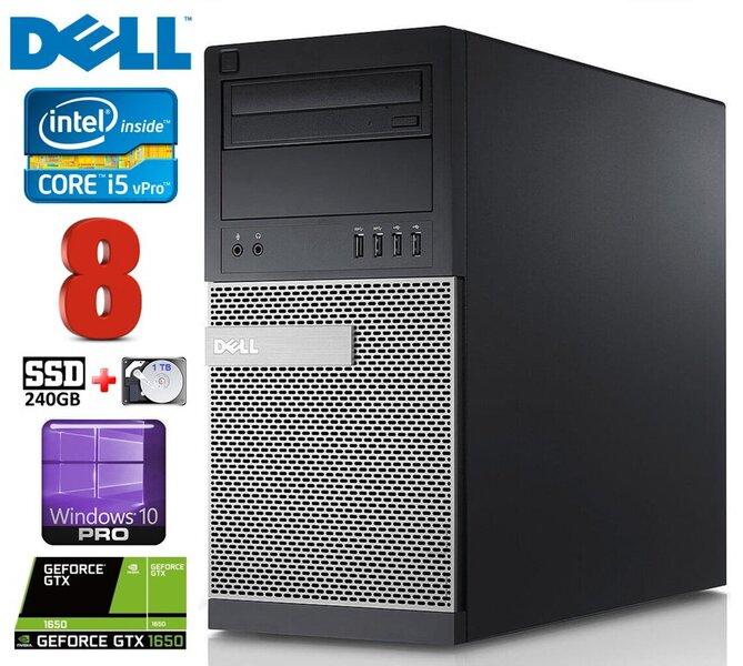 DELL 790 MT i5-2400 8GB 240SSD+1TB GTX1650 4GB DVD WIN10Pro kaina ir informacija | Stacionarūs kompiuteriai | pigu.lt