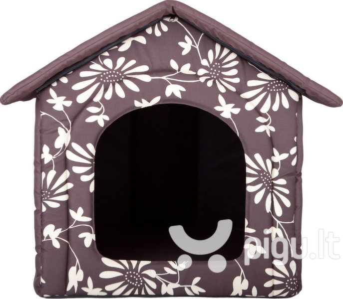 Guolis-būda Hobbydog R3 gėlės, 52x46x53 cm, rudas kaina