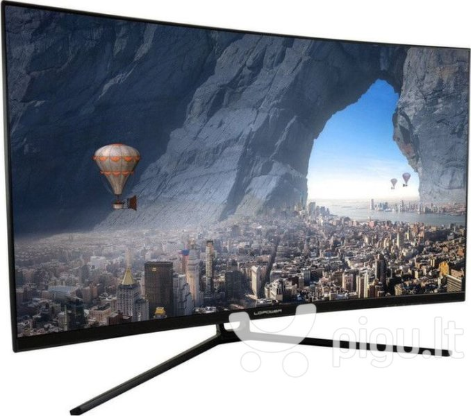 Dis 32 LC-Power M32-QHD-144-C QHD Curved kaina