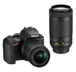 Nikon D3500 + AF-P DX 18-55 VR + AF-P DX 70-300 ED kaina ir informacija | Skaitmeniniai fotoaparatai | pigu.lt