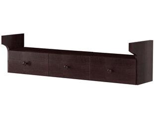 Pakabinama lentyna Notio Living Blair 100 su stalčiais, tamsiai ruda kaina ir informacija | Lentynos | pigu.lt
