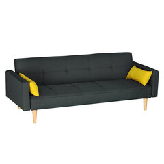 Sofa NORE Lund, pilka/geltona kaina ir informacija | Sofos | pigu.lt