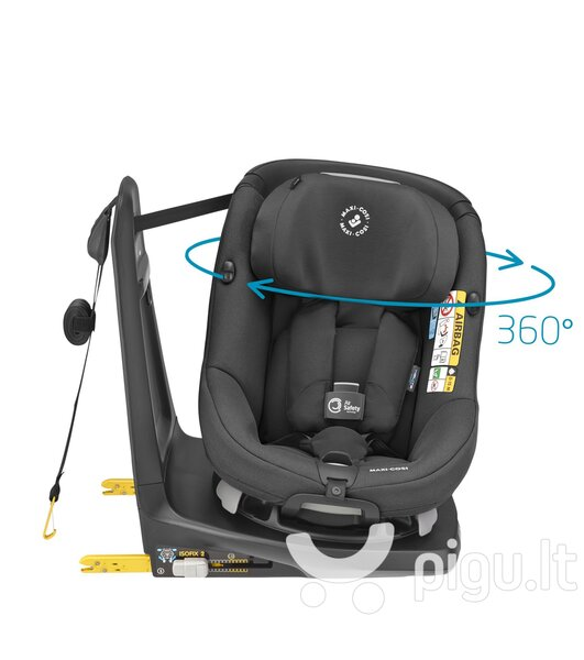 Maxi Cosi automobilinė kėdutė AxissFix Air, Authentic Black, 9-18 kg internetu