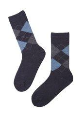 Vyriškos tamsiai mėlynos kojinės iš merino vilnos RAIN kaina ir informacija | Vyriškos tamsiai mėlynos kojinės iš merino vilnos RAIN | pigu.lt