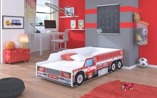 Детская кровать ADRK Furniture Fire Truck, 160x80см цена и информация | Детские кровати | pigu.lt