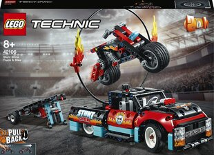 42106 LEGO® Technic Kaskadininkų pasirodymo sunkvežimis ir motociklas kaina ir informacija | Konstruktoriai ir kaladėlės | pigu.lt