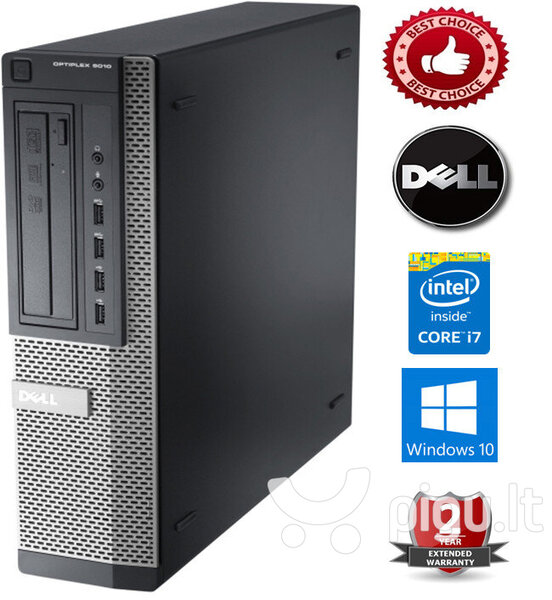Dell Optiplex 7010 Intel Core i7-3770 8GB 240GB SSD + 250GB HDD Windows 10 Professional