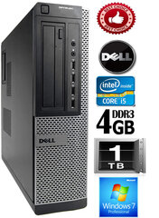 DELL Optiplex 7010 Core i5-3470 4GB 1TB DVD Windows 7 Professional kaina ir informacija | DELL Optiplex 7010 Core i5-3470 4GB 1TB DVD Windows 7 Professional | pigu.lt