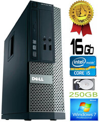 Dell Optiplex 390 i5-2400 16GB 250GB DVDRW Windows 7 Professional kaina ir informacija | Dell Optiplex 390 i5-2400 16GB 250GB DVDRW Windows 7 Professional | pigu.lt