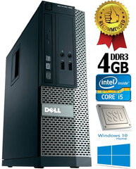 Dell Optiplex 390 i5-2400 4GB 120GB SSD DVDRW Windows 10 kaina ir informacija | Dell Optiplex 390 i5-2400 4GB 120GB SSD DVDRW Windows 10 | pigu.lt