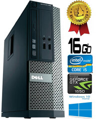 Dell Optiplex 390 i5-2400 16GB 480SSD GTX1650 4GB DVDRW Windows 10 kaina ir informacija | Dell Optiplex 390 i5-2400 16GB 480SSD GTX1650 4GB DVDRW Windows 10 | pigu.lt