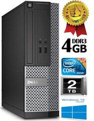 Dell Optiplex 7020 i3-4130 3.4Ghz 4GB 2TB HDD Windows 10 kaina ir informacija | Stacionarūs kompiuteriai | pigu.lt