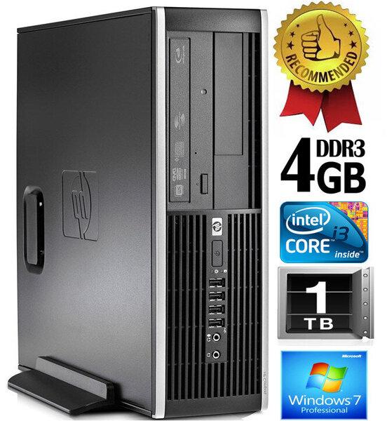 HP Compaq Elite 8200 Intel® Core™ i3-2100 4GB 1TB Windows 7 Professional kaina ir informacija | Stacionarūs kompiuteriai | pigu.lt