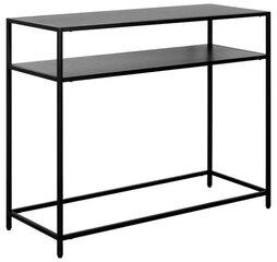 Konsolė Actona Newton, juoda kaina ir informacija | Stalai-konsolės | pigu.lt